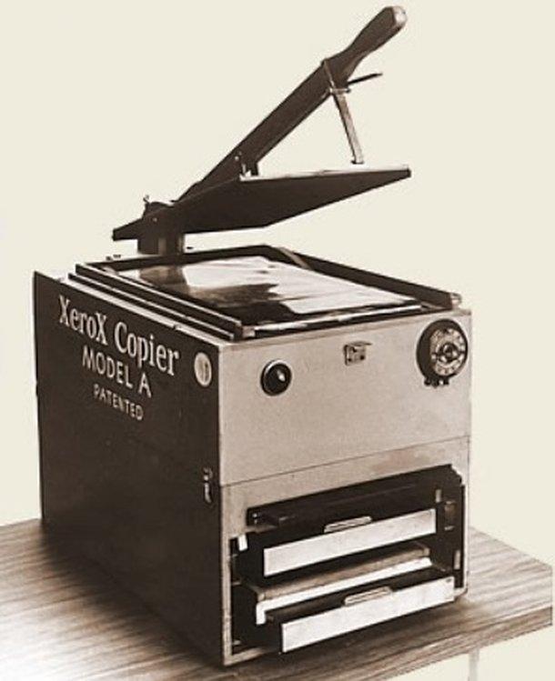 Una fotocopiadora vieja.